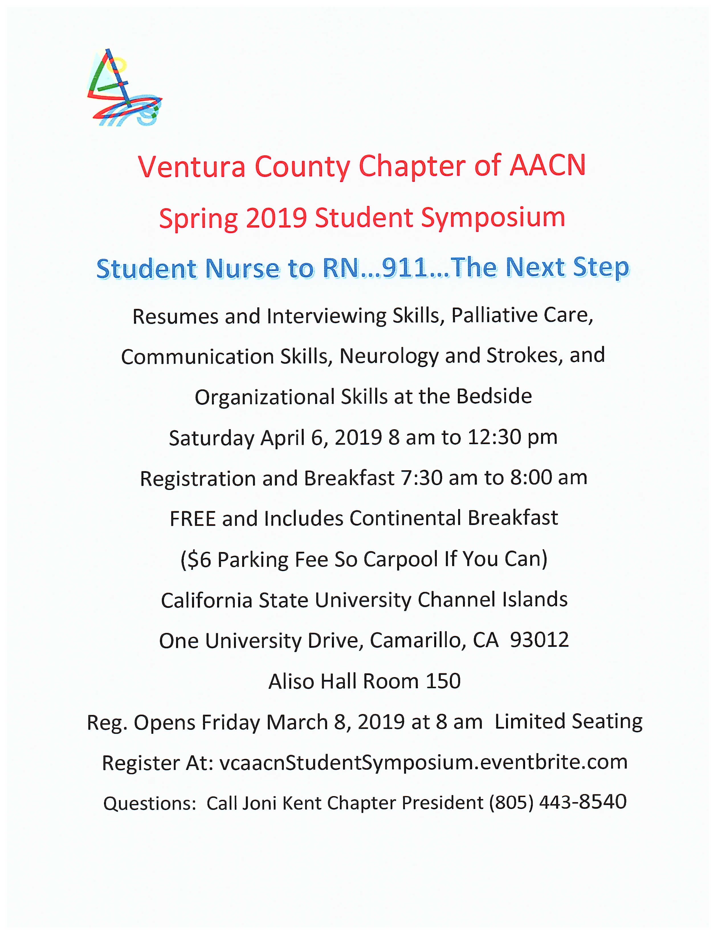 Ventura Chapter AACN Conference to be held on April 6, 2019